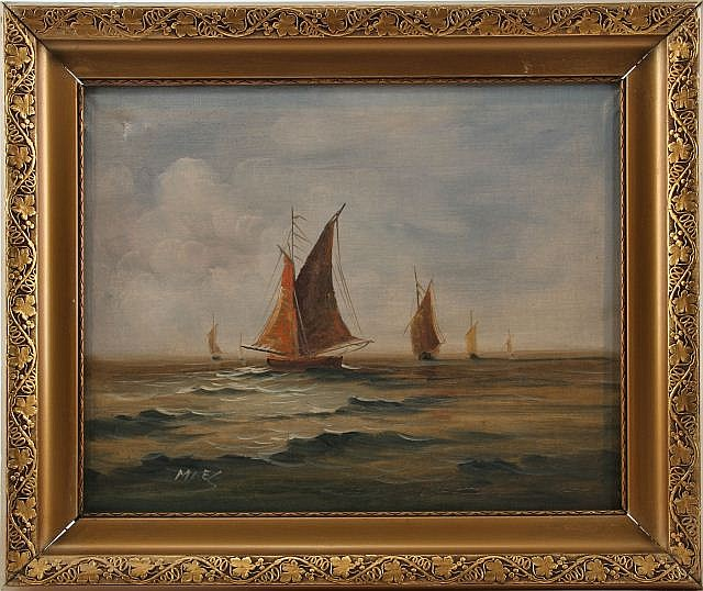 SIGNED ORIGINAL OIL ON CANVAS PAINTING OF SAILBOAT