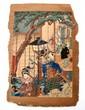 19TH C. JAPANESE UKIYO-E GEISHA STREET SCENE