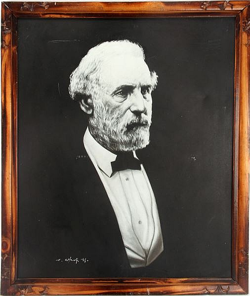 PORTRAIT OF GENERAL ROBERT E LEE ORIGINAL PAINTING
