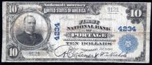 LARGE SIZE NATIONAL CURRENCY PORTAGE WISCONSIN