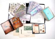 MIXED COIN & CURRENCY LOT US IRAQ WWII GERMANY