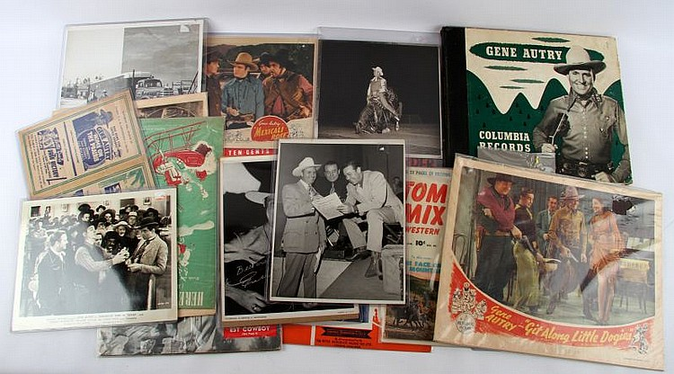 GENE AUTRY RECORDS MOVIE STILLS MUSIC PHOTOS MORE