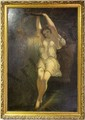 ORIGINAL WOOD NYMPH OIL PAINTING BY EDMONDSON, William John Edmondson, Click for value