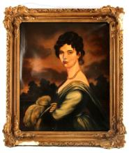 SIGNED J GILBERT EARLY 20TH C PORTRAIT 25 BY 30