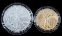 2006 20th ANNIVERSARY 1 OZ GOLD & SILVER COIN SET