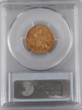 1909 D INDIAN HEAD $5 GOLD COIN AU 55