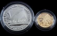 CONSTITUTION 2 COIN GOLD SILVER COMMEMORATIVE SET