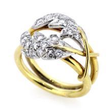 LDS PLAT/18KT YG TIFFANY/SCHLUMBERGER DIAMOND RING