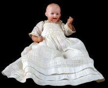 ANTIQUE HEUBACH BISQUE BABY DOLL 7