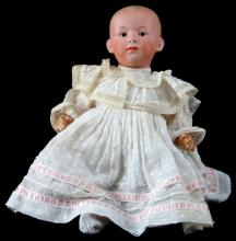 UNMARKED HEUBACH BISQUE ANTIQUE DOLL 11