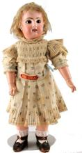 ANTIQUE FRENCH BEBE JUMEAU BISQUE DOLL 20'' TALL