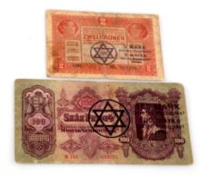 2 PAPER BILLS FROM BUDAPEST GHETTO