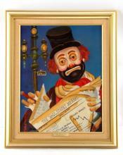 THE FINANCIER RED SKELETON SIGNED GICLEE