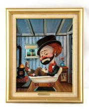 FREDDIE IN A TUB RED SKELETON SIGNED GICLEE