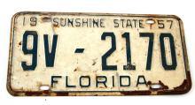 1957 FLORIDA COUNTY 9 ESCAMBIA  LICENSE PLATE
