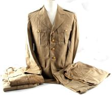 VINTAGE WWII ERA OFFICERS COAT SHIRTS AND PANTS