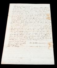 DESOTO PARISH LOUISIANA 1848 MULATTO GIRL SLAVE