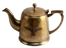 WWII-ERA SS SILVER PLATED TEAPOT 6 INCHES TALL