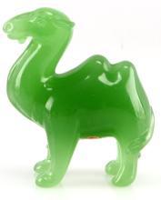 PEKING GREEN  GLASS CAMEL FIGURE