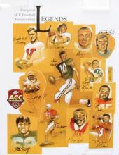 18x24 INCH ACC CONFERENCE LEGENDS SIGNED POSTER