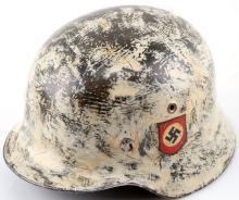WWII GERMAN STAHLHELM DOUBLE DECAL SS HELMET