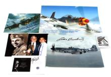 LOT 7 OF WWII AMERICAN PILOT AUTOGRAPHS