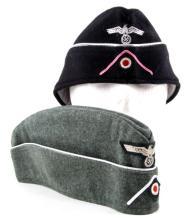 2 GERMAN WWII THIRD REICH OVERSEAS CAPS