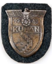 GERMAN WWII THIRD REICH KUBAN SHIELD 1943