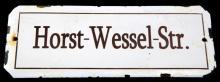 WWII GERMAN HORST-WESSEL STREET SIGN