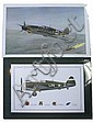 FICKLEN PRINT OF MESSERSCHMITT & P47 W SIGNATURES