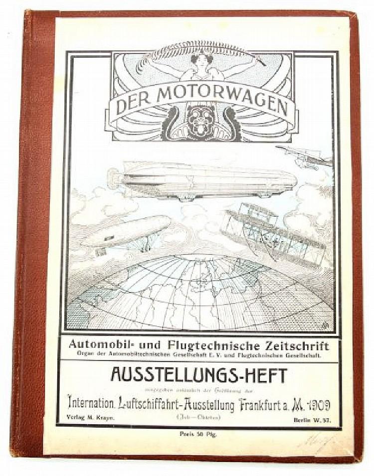 1909 DER MOTORWAGEN AUSSTELLUNGS-HEFT