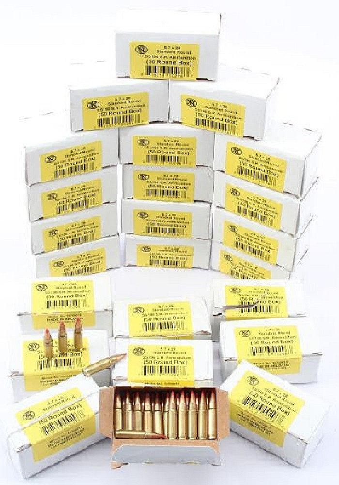 25 BOXES OF FN 5.7 X 28MM AMMUNITION FACTORY