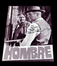 AUTOGAPHED MOVIE FLYER FOR HOMBRE 1967