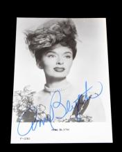 1960'S GERMAN POSTCARD SIGNED BY ANN BLYTH