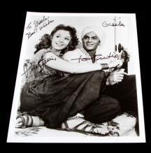 AUTOGRAPHED PHOTOGRAPH TONY CURTIS & PIPER LAURIE