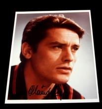 AUTOGRAPHED PHOTOGRAPH OF ALAIN DELON
