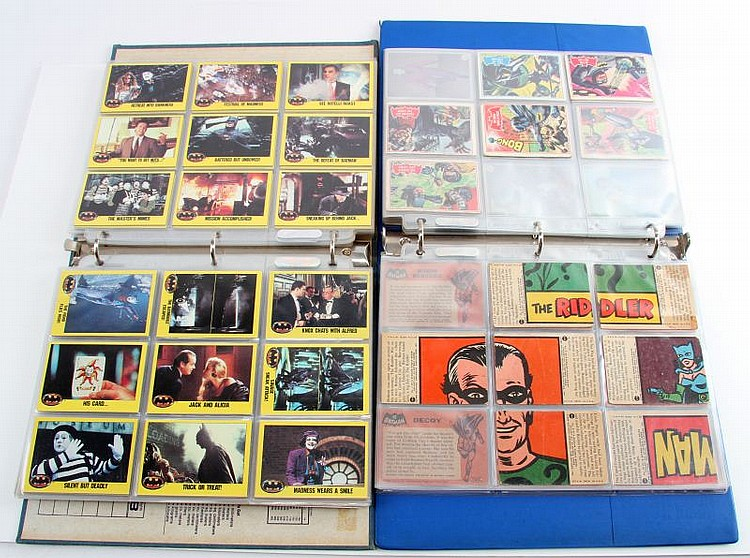 LARGE GROUP BATMAN TRADING CARDS 1966 TO 1992