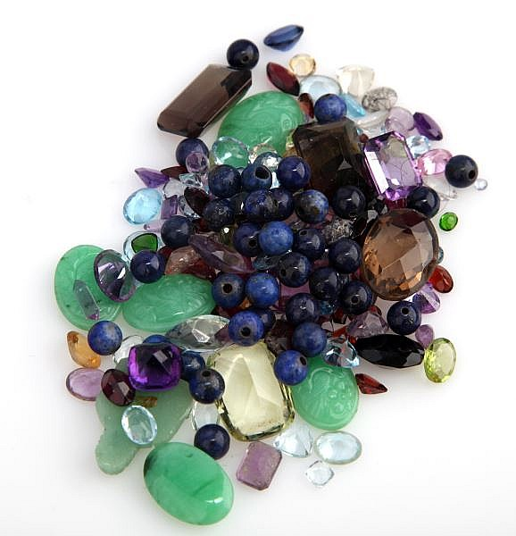 DEALERS LOT 288.11CT T.W. SEMI-PRECIOUS GEMSTONES