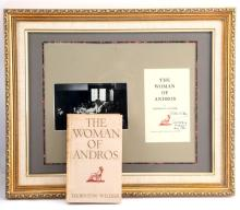 WOMEN OF ANDROS SIGNED FIRST EDITION FRAMED W BOOK