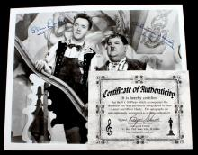 RARE SIGNED PHOTO OF STAN LAUREL AND OLIVER HARDY