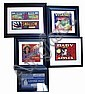 7 FRUIT AND PRODUCE LABELS MATTED AND FRAMED
