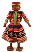 VINTAGE HAND MADE PALM SEMINOLE STANDING DOLL
