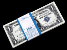 100 SEQUENTIAL $1 SILVER CERTIFICATE UNCIRCULATED
