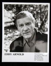AUTOGRAPHED B&W LAB PHOTO OF EDDY ARNOLD