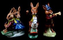 LOT OF 3 BUNNYKINS ROYAL DOULTON FIGURINES RETIRED