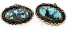 ERNEST PINO STERLING SILVER TURQUOISE EARRINGS