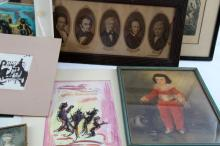 MIXED LOT OF ORIGINAL AND PRINTS ARTWORKS