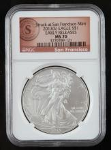 2013S NGC MS70 EARLY RELEASE SILVER AMERICAN EAGLE