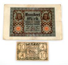 GROUP OF 2 GERMAN THIRD REICH ANTI-SEMITIC BILLS