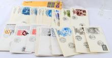 74 UNITED NATIONS 1980S FIRST DAY OF ISSUE COVERS